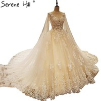 Lace Wedding Dresses Romantic Appliques Pearls Princess Wedding Bridal Dress