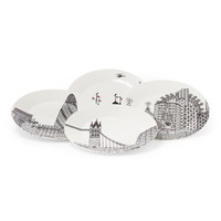Set Of 4 London City Scape Plates - Home - T.J.Maxx