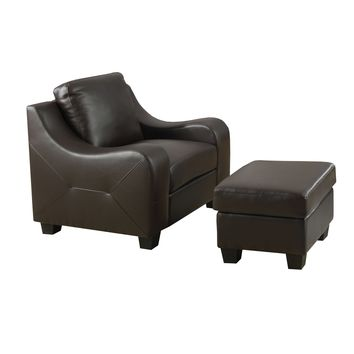 Chair - Chocolate Brown Bonded Leather
