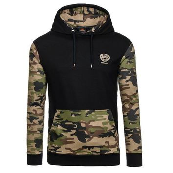 New Men Hoodie Sweatshirt Fashion Brand Sudaderas Hombre Casual Camouflage Hooded Sportswear Pullover Male Tracksuit