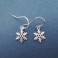 Snowflake, Gold, Silver, Earrings, Lovely, Snow, Earrings, Birthday, Lovers, Friendship, Sister, Gift, Jewelry