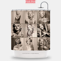 Vintage Tattooed Marilyn Monroe Shower Curtain Free shipping Home & Living 154