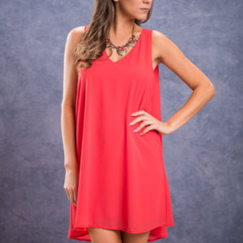 I'll Fly Away Dress, Coral
