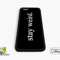 Stay Weird iPhone Case 4, 4s, 5, 5s, 5c, 6 and 6 plus by Avallen