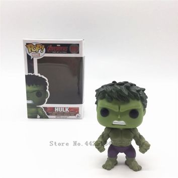 The Avengers 3: FUNKO POP Infinity War & 10cm Hulk pvc Action Figures Model  Gift For The Children With Toys
