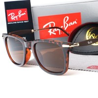 Ray-ban sells casual neutral polarized large-frame beach sunglasses