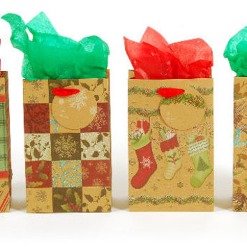 Christmas Countryside Printed with Glitter Kraft G Case Pack 180