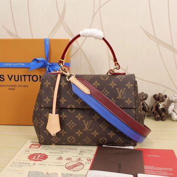 Louis Vuitton Women Shopping Leather Tote Handbag Shoulder Bag