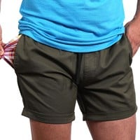 """The """"Paradise"""" Stretch Twill Short in Olive Green Sizes L & XXL Available"""
