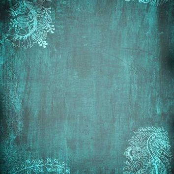 Teal Distressed Vinyl Backdrop - 6x8 - LCCR7957 - LAST CALL