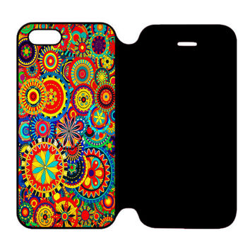 Beautiful Trippy Art For iPhone 5 | 5S Flip Case