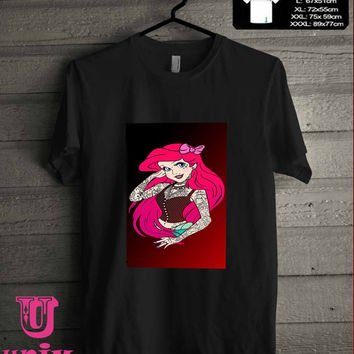 Punk Ariel tattoo T-Shirt for man shirt, woman shirt **