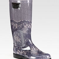 Lace-Printed Rubber Rain Boots - Zoom - Saks Fifth Avenue Mobile