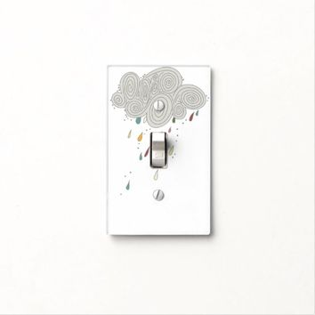 Colorful Rain Cloud Light Switch Cover