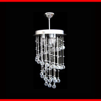 3 Lights Hanging Ceiling Rain Drop Crystal Chandelier Round Lamps Lighting