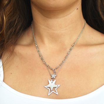 Three Layer Star Dainty Necklace