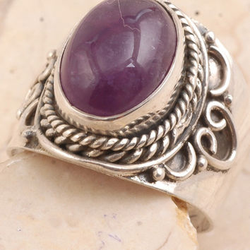 Traditional Amethyst Ring