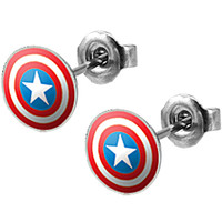 Captain America Stud Earrings | Body Candy Body Jewelry