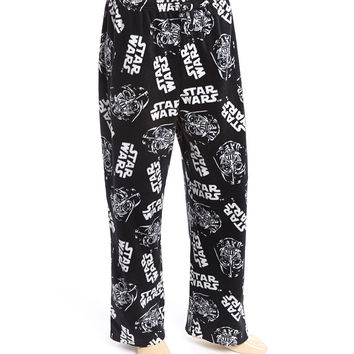 Black & Gray Star Wars Pajama Pants - Men | zulily
