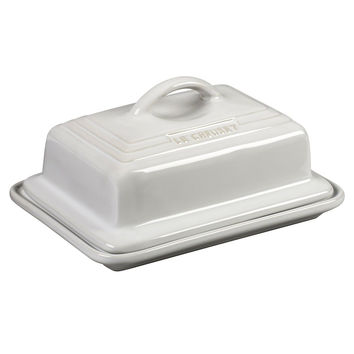 Le Creuset of America Heritage Stoneware Butter Dish White