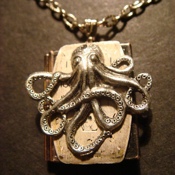 Victorian Style Steampunk Octopus with Watch by CreepyCreationz