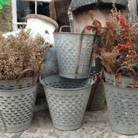 Special price for 10 quantities of Rustic Olive and grape bucket basket excellent condition