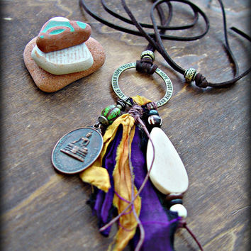 Boho Necklace - Boho Jewelry - Yoga Necklace - Yoga Jewelry - Buddha Necklace - Tribal Necklace  - Boho Hippie Necklace - Gypsy Necklace