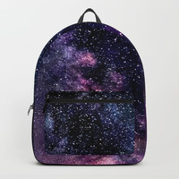 The Milky Way Midnight Blue & Purple Backpacks by 2sweet4words Designs