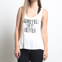 Brunettes Do It Better Graphic Tee
