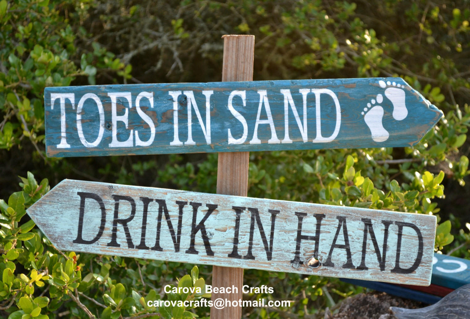 Beach wedding sign beach sign beach from for Outdoor decorative signs