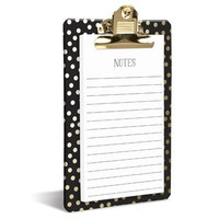 Gold Dots Clipboard Notepad