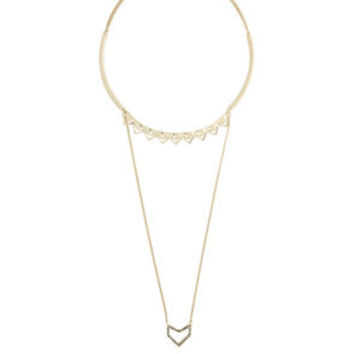 Triangle High-Low Necklace in Black - BCBGeneration