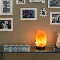 Rakaposhi Natural Himalayan Salt Rock Lamp w/ 6' UL Listed Dimmer Switch - 9+ lbs