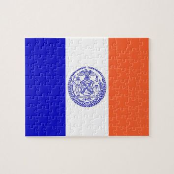 Puzzle with Flag of New York City