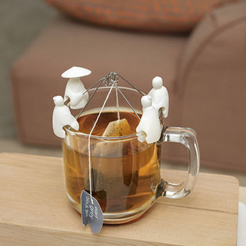 Kikkerland Design Inc » Products » Tea Holder Fisherman Set Of 4