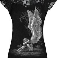 "WOMEN'S ""ENSLAVED ANGEL"" TOP BY SPIRAL USA (BLACK)"