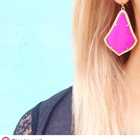 Alexandra Earrings in Magenta - Kendra Scott Jewelry