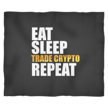 Cryptocurrencies Blanket by Living You Co. | Eat Sleep Trade Crypto Repeat, Crypto Blanket, Trading Crypto Blanket