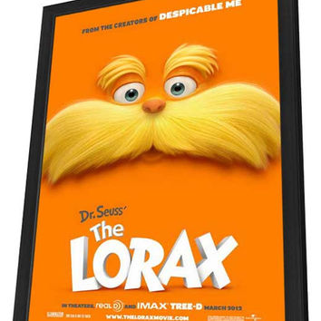 Dr. Seuss' The Lorax 27x40 Framed Movie Poster (2012)