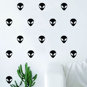 Set of 30 Aliens Pattern Decal Sticker Wall Vinyl Art Home Decor Cute UFO Space Galaxy Martian