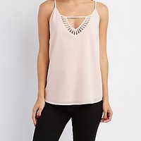 CAGED KEYHOLE TANK TOP