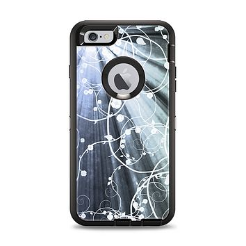 The Green and White Light Arrays with Glowing Vines Apple iPhone 6 Plus Otterbox Defender Case Skin Set