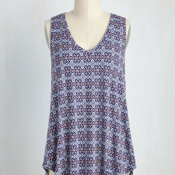 Infinite Options Tank Top in Cool Tile | Mod Retro Vintage Short Sleeve Shirts | ModCloth.com