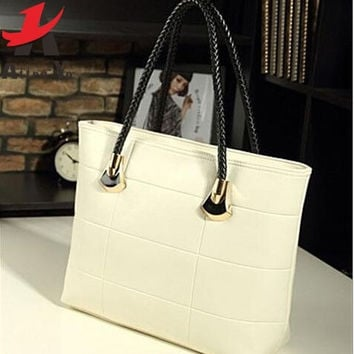 Genuine leather Women Fashion Leather Handbag Women Shoulder Bag Messenger Bags = 1932619524