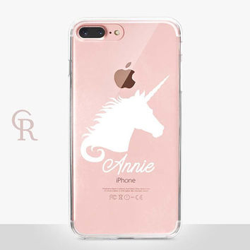 Personalised Unicorn Clear Phone Case For iPhone 8 iPhone 8 Plus iPhone X Phone 7 Plus iPhone 6 iPhone 6S  iPhone SE Samsung S8 iPhone 5