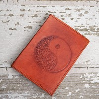 Refillable Ying-Yang Handmade Leather Journal