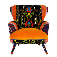 Suzani armchair - sweet honey