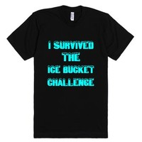 I Survived The Ice Bucket Challenge-Unisex Black T-Shirt