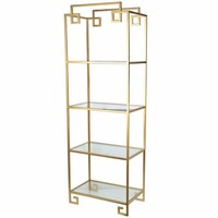 Gold Metal and Glass Decorative Shelf | Overstock.com Shopping - The Best Deals on Accent Pieces