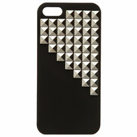 GUNMETAL HALF STUD IPHONE CASE
